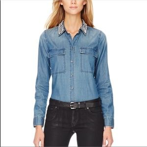 Michael Kors Rhinestone Denim Top